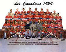 1954 MONTREAL CANADIENS TEAM PHOTO 8X10