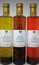 Aromaspeiseöl 3er Set Knoblauch Basilikum,Chilli Zwiebel,Paprika Oregano