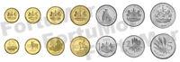LESOTHO SET OF 7 COINS 5 10 20 50 LISENTE 1 2 5 MALOTI, UNC, 1998 2010