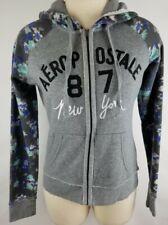 Aeropostale Medium Embroidered Glitter Spellout Zip Hoodie Sweatshirt Jacket