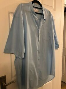 """Moville 18"""" L/ blue Clergy Clerical  dog collar Shirt Poly-Cotton priest vicar"""