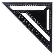 7 Inch Metric Black Triangle Angle Ruler Protractor Woodworking Measurement Tool