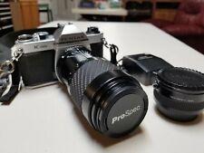 Pentax K1000 35mm Slr Film Camera with 2 lenses. 70-200 Zoom + stock lens