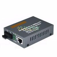 2KM Fiber Transceiver Optical Media Converter 10/100Mbps RJ45 Multi-Mode SC Port