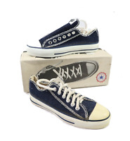 NOS Vintage 90s Converse All Star Chuck Taylor Low Denim Shoes USA Womens 6.5