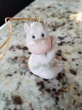 Precious moments ornaments. Year 1995. Hippo holidays. 520403