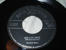 THE DAVIS SISTERS Rock-a-Bye Boogie 45 Rockabilly Country Skeeter RCA Victor