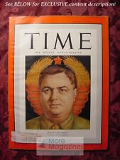 TIME Magazine March 20 1950 3/20/50 RUSSIA USSR SOVIET GEORGY MALENKOV