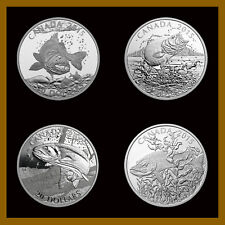 Canada $20 Dollars Silver Proof (4 Pcs Full Coin Set), 1 oz 2015  Sportfish