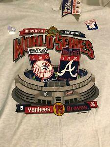 NY Yankees vs Atlanta Braves 1996 World Series Vintage T-Shirt Never Worn Large