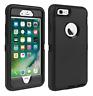 Black Hybrid Shockproof Hard & Soft Cover Case For iPhone 7 8 6s 6 Plus 4.7 5.5