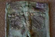 TRUE RELIGION HALLE 26X29 Leggings Jeans NWOT$294 Sample! Skinny! Printed Green