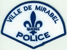 Ville de Mirabel Police, Quebec, Canada HTF Vintage Uniform/Shoulder Patch