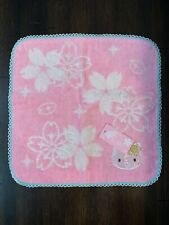 Authentic Sanrio Hello Kitty Wash Cloth w/ Stencil Face Towel Rare from Japan