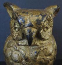 1930 ORIGINAL CAST IRON VINDEX OWL TOY BANK ~ GUARANTEED OLD ~ M#597c ~ BK635