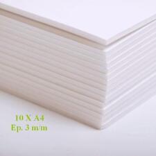 10 PLAQUES CARTON PLUME MOUSSE 2 FACE BLANCHE KAPA LINE 3 M/M FORMAT A4 MAQUETTE