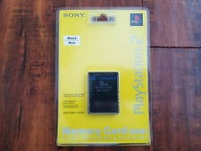 Official Sony PlayStation 2 / PS2 Black Memory Card 8MB SCPH-10020 - Brand NEW