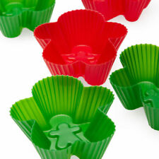 SiliconeZone Gingerbread Man Silicone Cupcake Mold / Muffin Cup - Set of 6