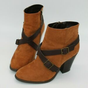 Unbranded Women's Caramel Brown Ankle Booties Boots Shoes US size 6