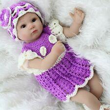 Vinyl Silicone Reborn Baby Doll Lifelike Open Eye Sweet Preemie Bebe Toy 18''