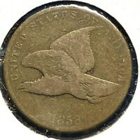 1858 1C Small Letters Flying Eagle Cent (57630)