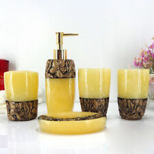 Soap Dish Plate Toothbrush Holder Liquid Dispenser Storage Lotion Bathroom 5pcs