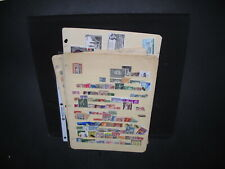 World Assortment On 12 Manila Stock Pages