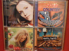 4 Country CD Lot JENNIFER HANSON Deana Carter Exposed Roots Country Legends DREW