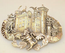 ANTIQUE 1884 INTERNATIONAL EXHIBITION TURIN ITALY STERLING & GOLD SOUVENIR PIN