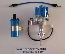 PLYMOUTH 273-318-340-360 BLUE Small Female Cap HEI Distributor + BLUE 45K Coil