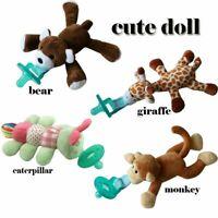 Cute Baby Infant Pacifier Plush Toy Newborn Kids Boys & Girls Cartoon Nipp BT