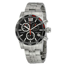 Certina DS Sport Chronograph Black Dial Stainless Steel Mens Watch