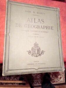 ANCIEN ATLAS DE GEOGRAPHIE NIOX & DARSY EDITION 1905