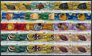 [PG20049] Penrhyn 1974 : Fishes - 4x Good Set Very Fine MNH Stamps - $120