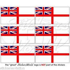 ROYAL NAVY UK flag bianco ENSIGN 40mm MOBILE CELLULARE MINI ADESIVI, decalcomanie X6
