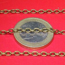 4 Metros de Cadena Metálica 2mm A154 Cobre/Bronce Catena Chain Kette Cadeia
