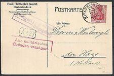 Reich 1915 private PC Aus militärischen Gründen verzögert