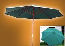New Patio Market 10' FT Outdoor Wooden Wood Yard Beach Umbrella Shade Green