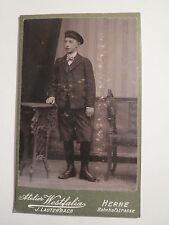 Herne - Schüler / Pennäler Ludolf Schmidt mit Mütze - 1906 - CDV / Studentika