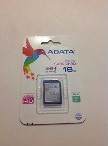 Brand New Adata 16 GB SD Card