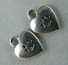 200pcs Tibetan Silver Heart Charms Pendants Jewelry DIY 12x9.5x2mm ZN61893