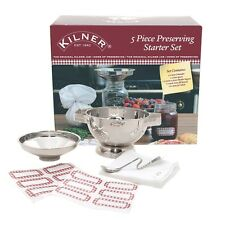 Kilner 5 Piece Preserving Starter Set - Jam/Chutney Making Kit for Canning