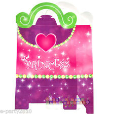 PRINCESS FAVOR BOXES (4) ~ Birthday Party Supplies Treat Loot Goody Paper Pink
