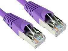 Rj45 Cat6a Red Plomo SSTP LSOH cable de parche enganche Violet 1,5 Mtr