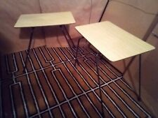 Pair of Small Laminate Top Mid-Century Modern Side Tables Iron Legs