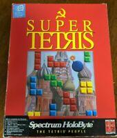 Vtg 1991 Super Tetris Software IBM Tandy 1000 5.25 & 3.5 Disks Product Catalog
