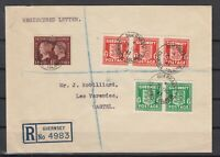 G3345/ GUERNESEY GERMAN OCC / GREAT BRITAIN – MI # 1 / 2 ON COVER