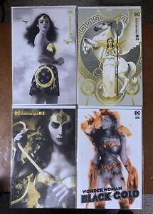 WONDER WOMAN BLACK & GOLD 1 2 3 4 All NM 4 Total Books