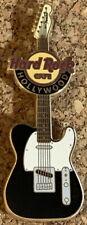 Hard Rock Cafe HOLLYWOOD 2010 FENDER ERA Guitar PIN Black & White Jaguar #53307