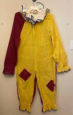 Vtg Adult Clown Costume Handmade(?) W/ Collar Halloween Theater Maroon Mustard